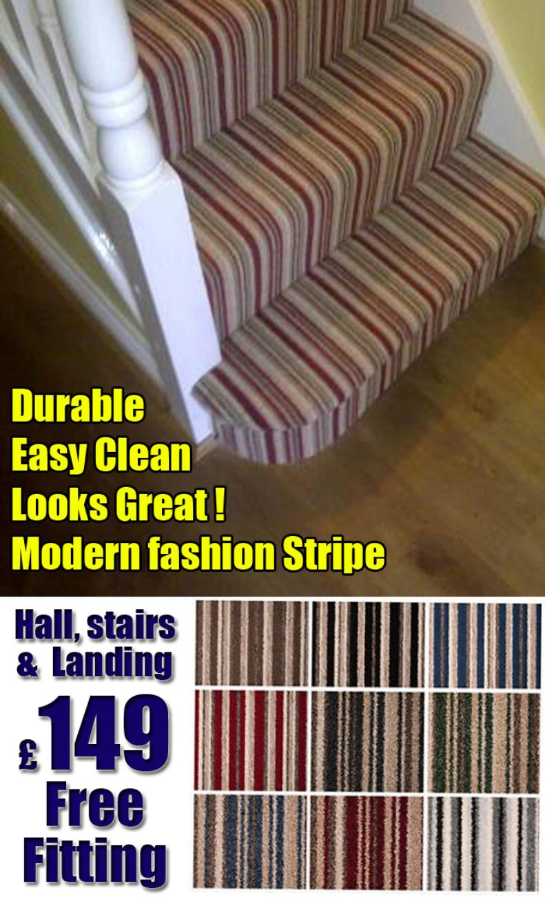 Stripey carpet for stairs