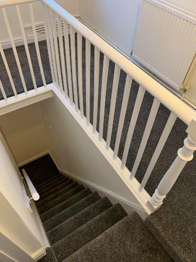 Heavy thick Saxony stairs carpet in Newcastle-under-lyme