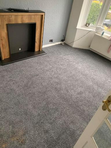 Cheap lounge carpets in grey stainfree twist