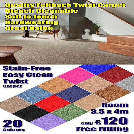 Cheap Bedroom Carpet with free fitting in stoke on trent