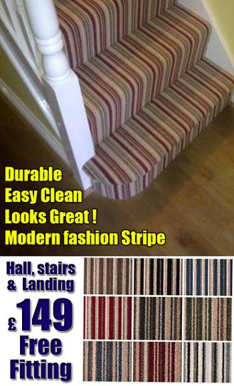 striped stairs carpets stoke
