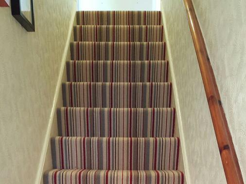nice stripe stairs carpet